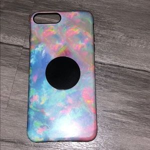 Accessories - Colorful marble print IPhone 7Plus case